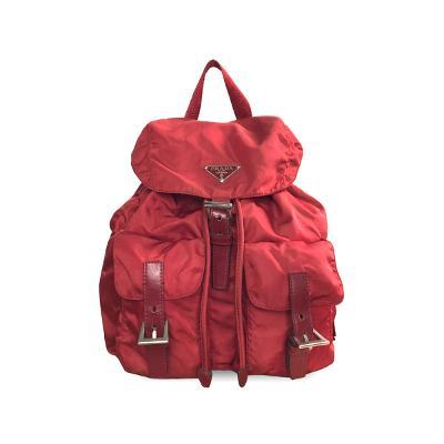 medium Nylon Backpack red